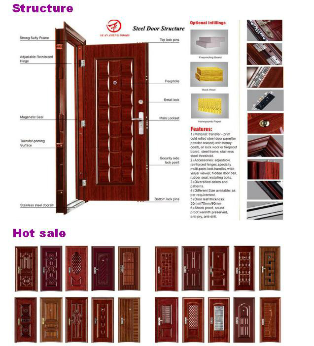 Swing Open Style Steel Wood Door