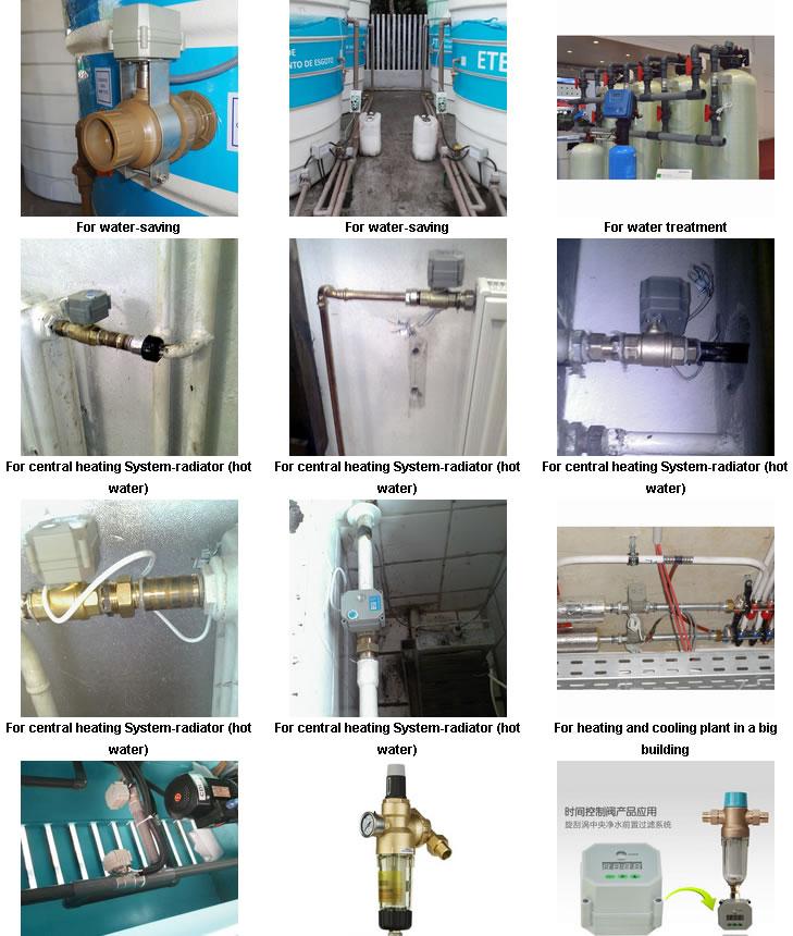 Dn20 230V Brass Nickel Plated Electric Water Shut off Valve