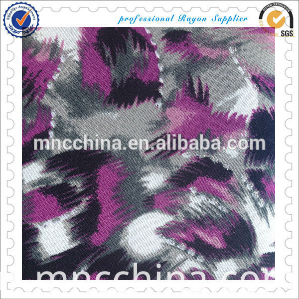 rayon twill print with mtl