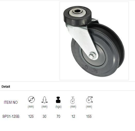 5 Inch Shopping Cart Casters with PU Wheel