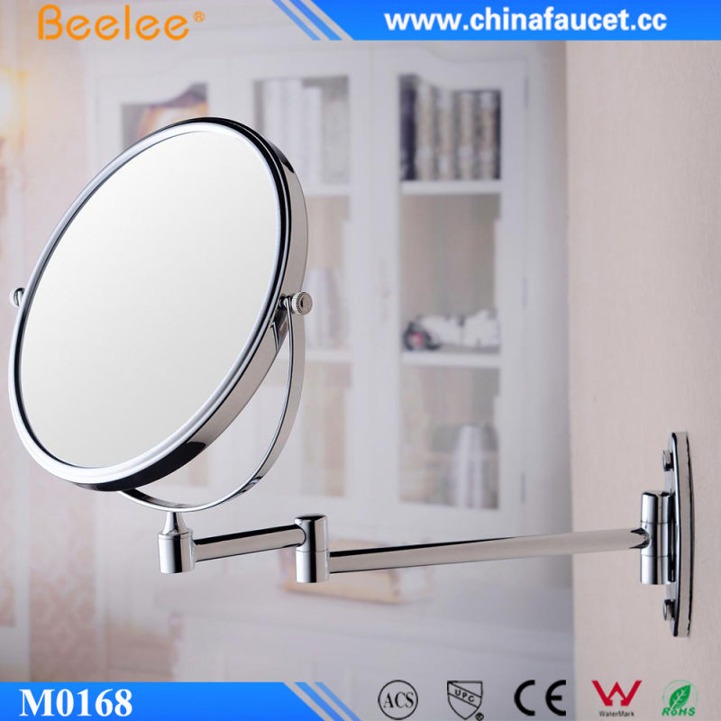 Brass 3X Magnifying Decorative Make up Wall Mirror