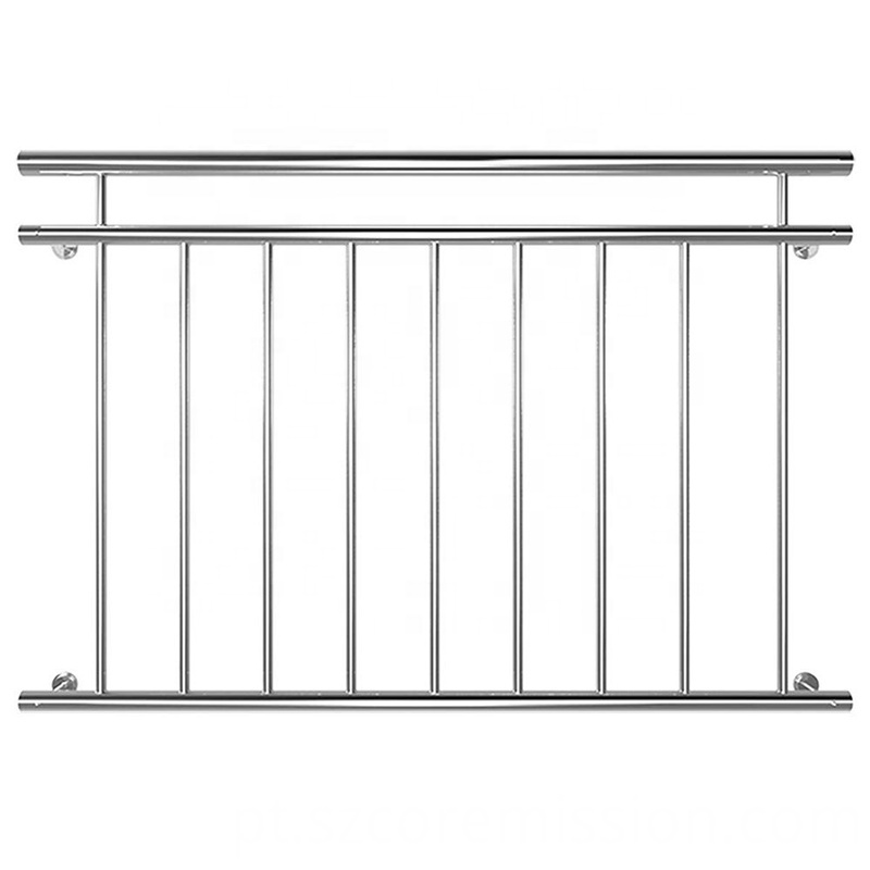 Rustproof Indoor 304 Stainless Steel French Balcony Railing