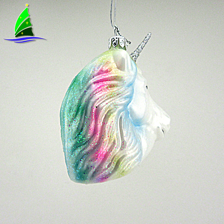 Unicorn Christmas Holiday Ornament
