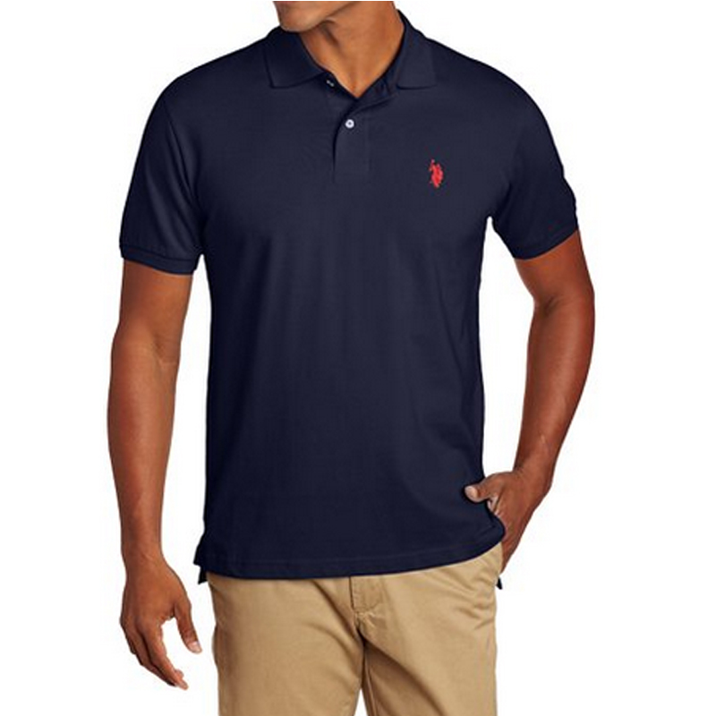 Men's Solid Polo Shirt with Small Logo
