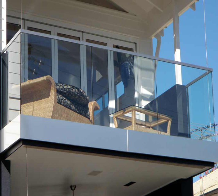 Tempered Balcony Railing Glass