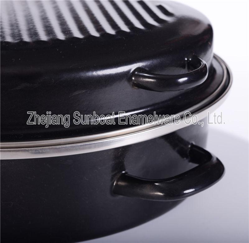 Sunboat Heavy Enamel Round Roaster BBQ Kitchenware/ Kitchen Appliance