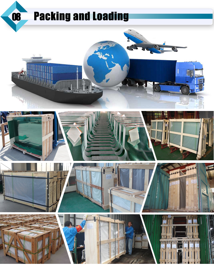 Triple laminated glass package