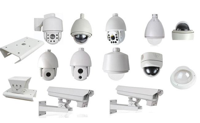 Indoor Surveillance Dome Camera Housing Manufacturer Aluminum Die Cast Enclosure