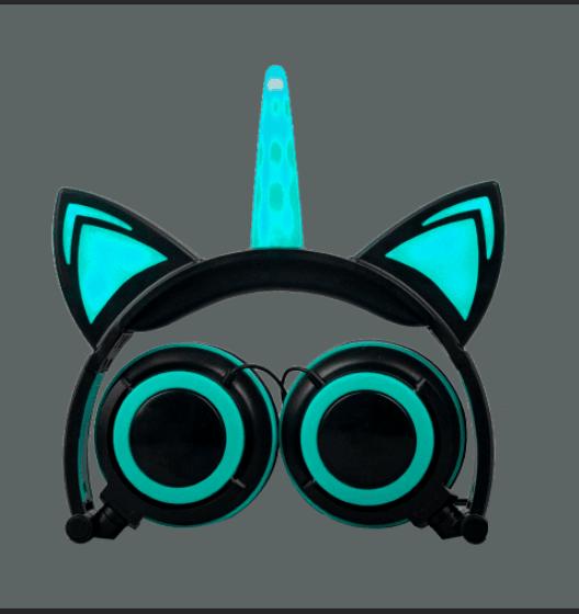 stereo glowing light headphone