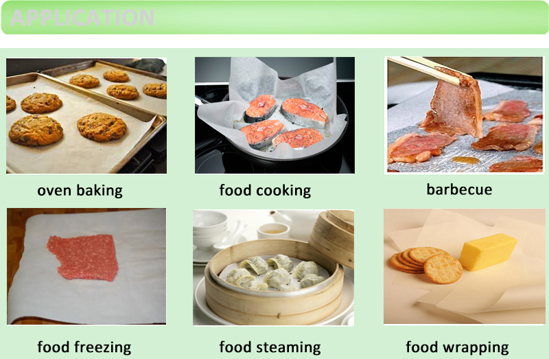 China Factory Virgin Pulp Style 40g Parchment Paper for Baking