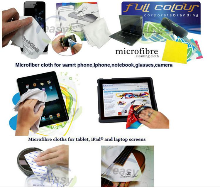 Multicolor Customed Printing Logo Cleaning Cloth for Glasses