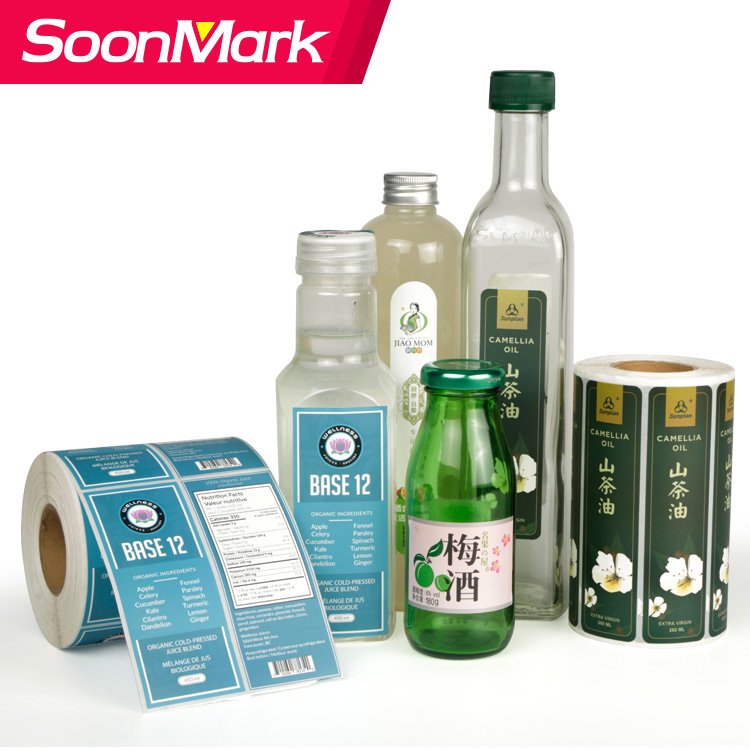 Customized PVC bottle label