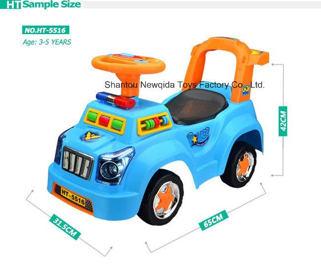 Hot Sale Police Swing Baby Walker Car with Light Music Souna