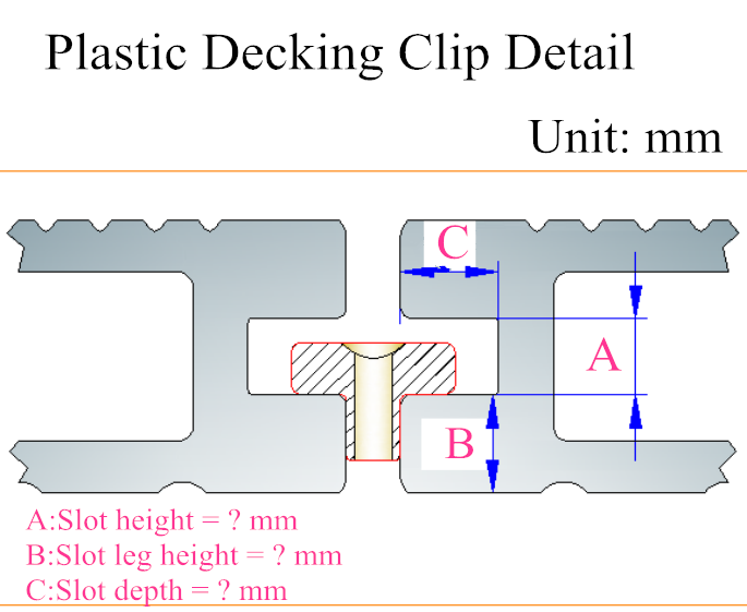 Outdoor WPC Decking Board Fastener with Screws