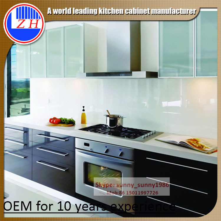 2016 Glossy Wood Cabinet for Kitchen Cupboard