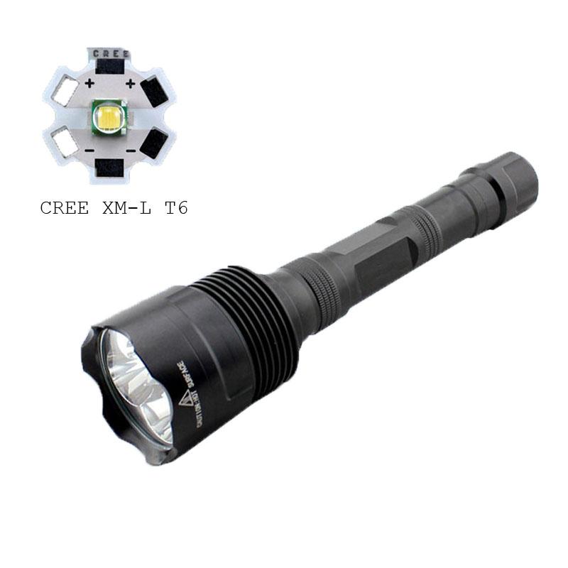 C8-3t6 Rechargeable 3*Xml L2 T6 LED Hight Brightest Flashlight 3800lm Police Xml T6 Flashlight