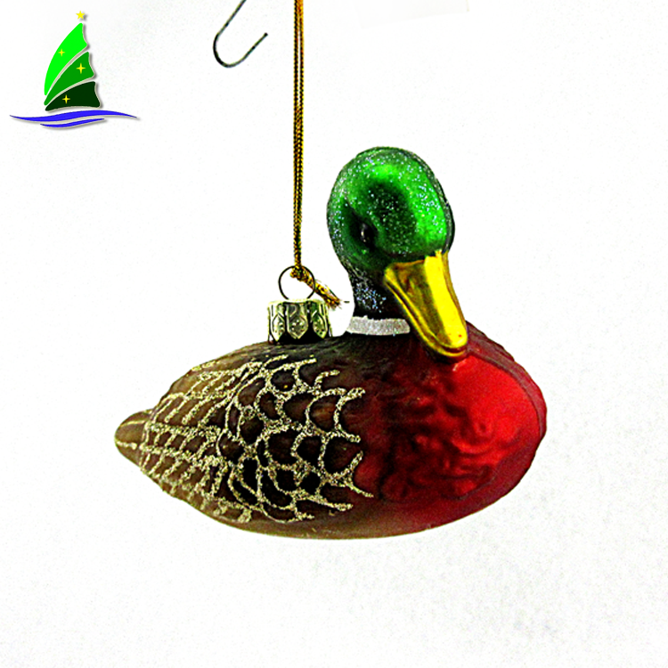 glass duck ornaments
