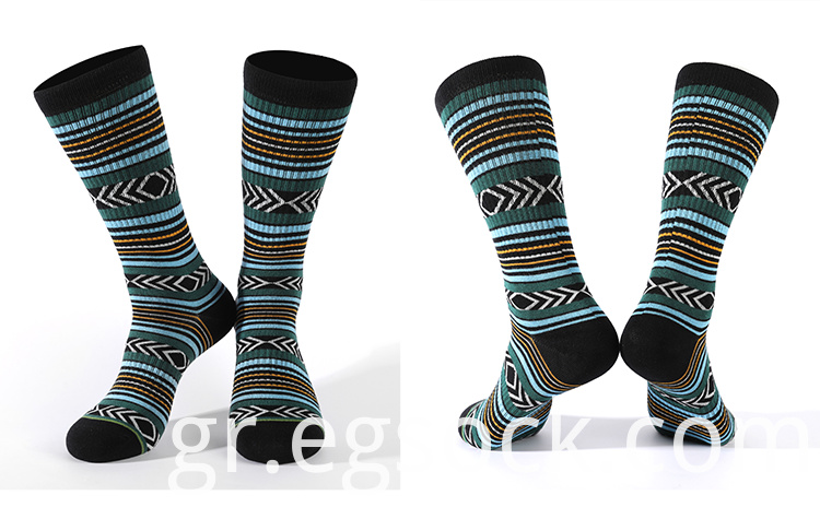 Striped Mid Compression Sport Socks