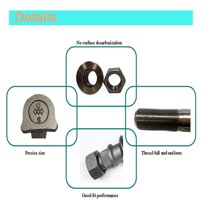 Manufacturer Galvanized Front Nut & Bolt for Isuzu