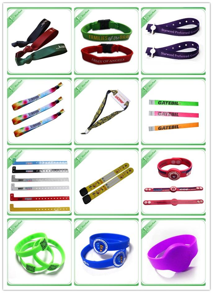 2016 New Arrival Festival Woven Wristband with Aluminium Tube