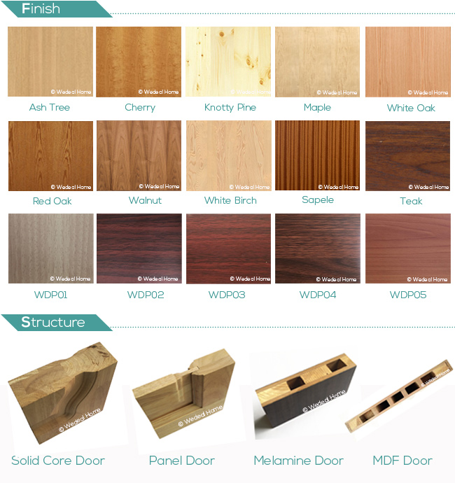 Customize Interior Solid Wooden Oak Door for Hotels