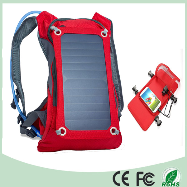 Waterproof Polyester 6.5W Cycling Climbing Hiking Travel Solar Power Backpack (SB-178)