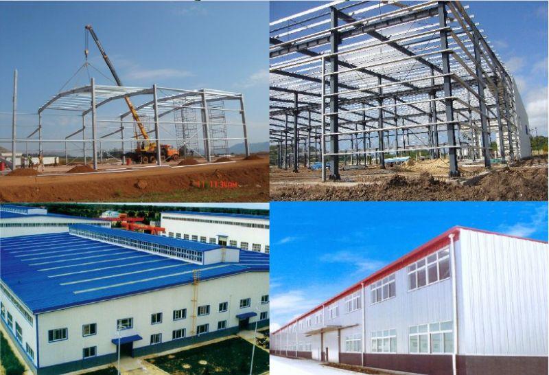 Flat Roof Steel Building Light Steel Structure