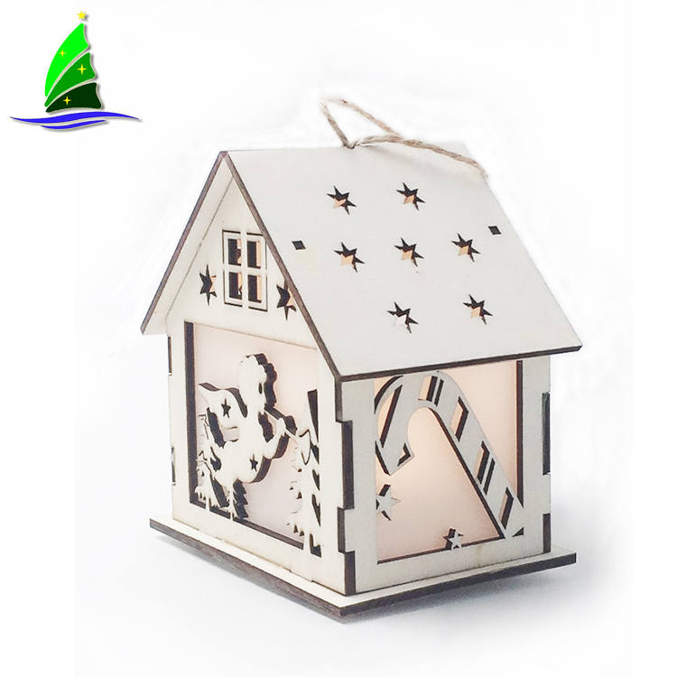Xmas Led Light House Decoration Ornament
