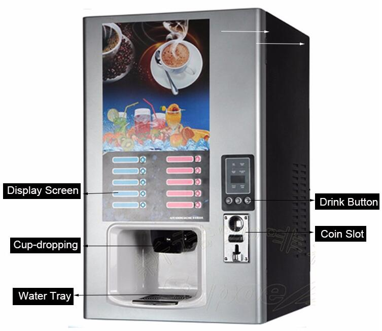 Fully Automatic Hot Drink Coffee Protein Vending Machine Sc-8905bc5h5-S