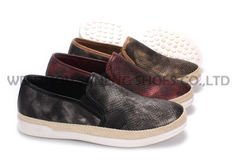 Women's Shoes Leisure PU Shoes with Rope Outsole Snc-55001