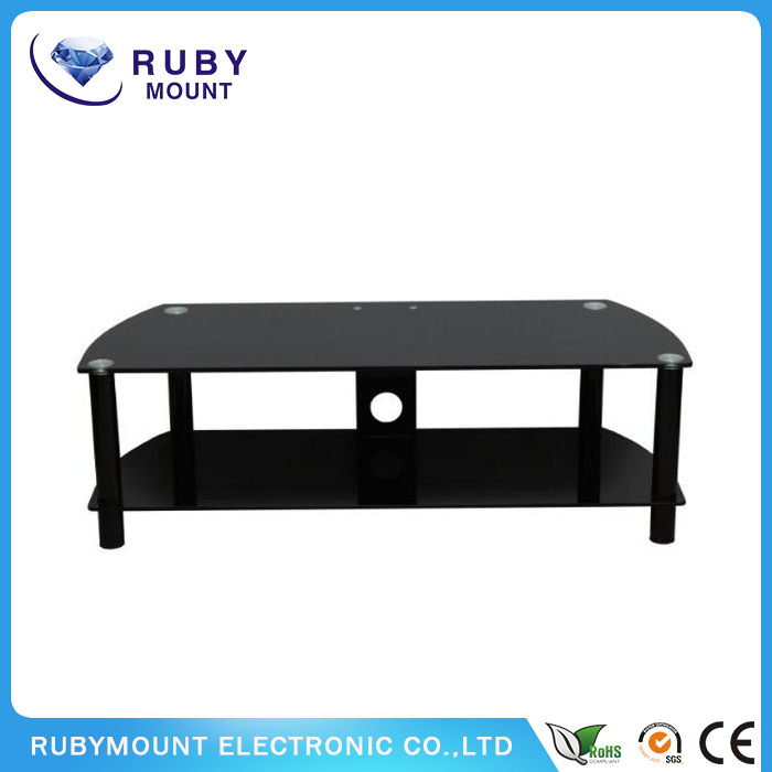 Flat Panel 60-Inch TV Console with Glass Shelves