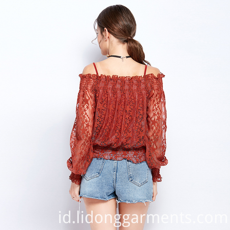 New Fashion Lace Blouse Designs