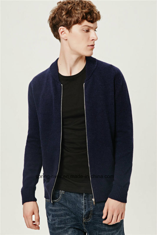 Lambs Wool Fashion Baseball Shirt Collar Men Cardigan