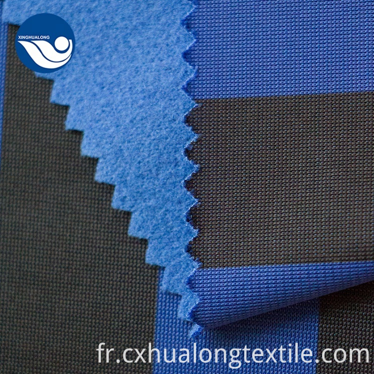 Eco Friendly Garments Casual Printing Blue Knitted Fabric