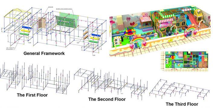 China Manufacture Children Indoor Playground Big Slides for Sale