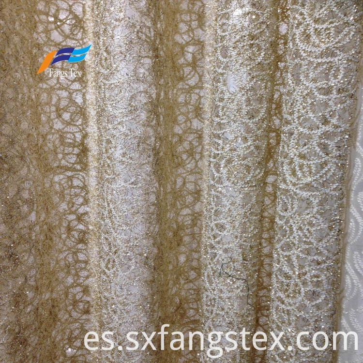 100% Polyester Embroidered Wide Voile Curtain Fabric 2
