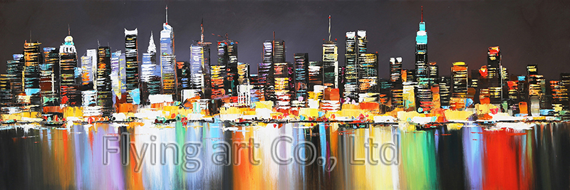Reproduction Building Oil Painting Canvas Wall Art