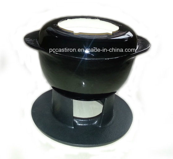 Ce Qualifed Cast Iron Fondue Set Price China Factory