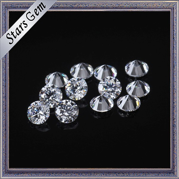 Many Size and Color Available Round Brilliant Cut CZ Zirconia Loose Gemstones
