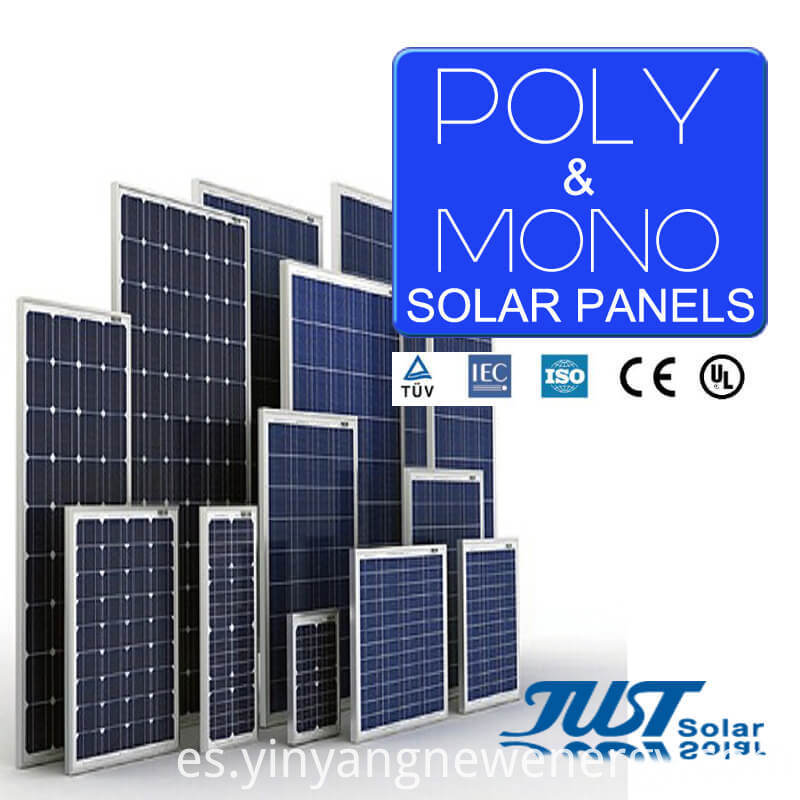 Panel solar mono de alta tecnología Green Energy 165W en China