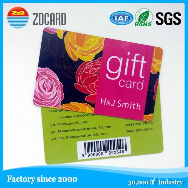 Printing Membership Loyalty Cards Magnetic Strip Plastic Card