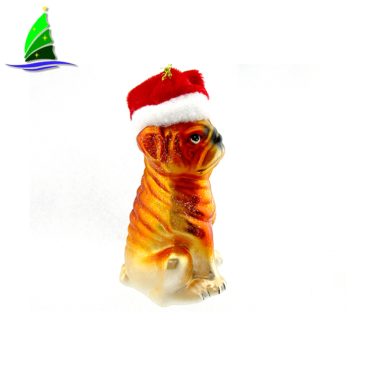 Glass Dog Ornaments
