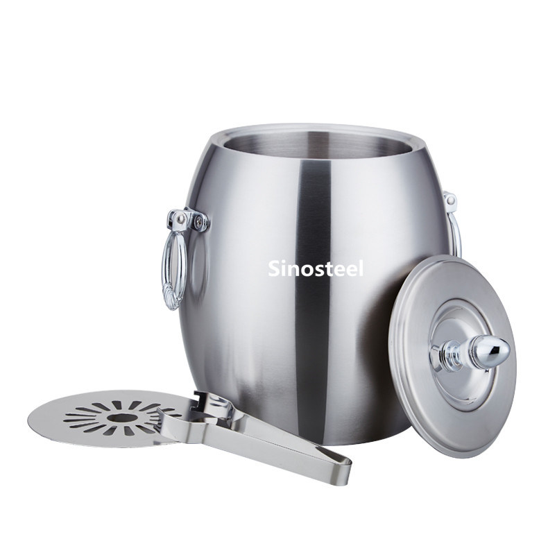 Olive Thickning Double Stainless Steel Ice Bucket