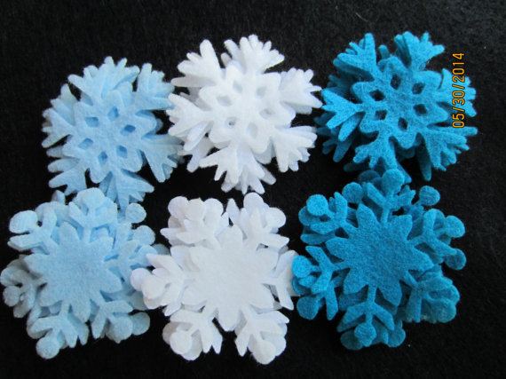 Felt Snow Flakes in Any Color