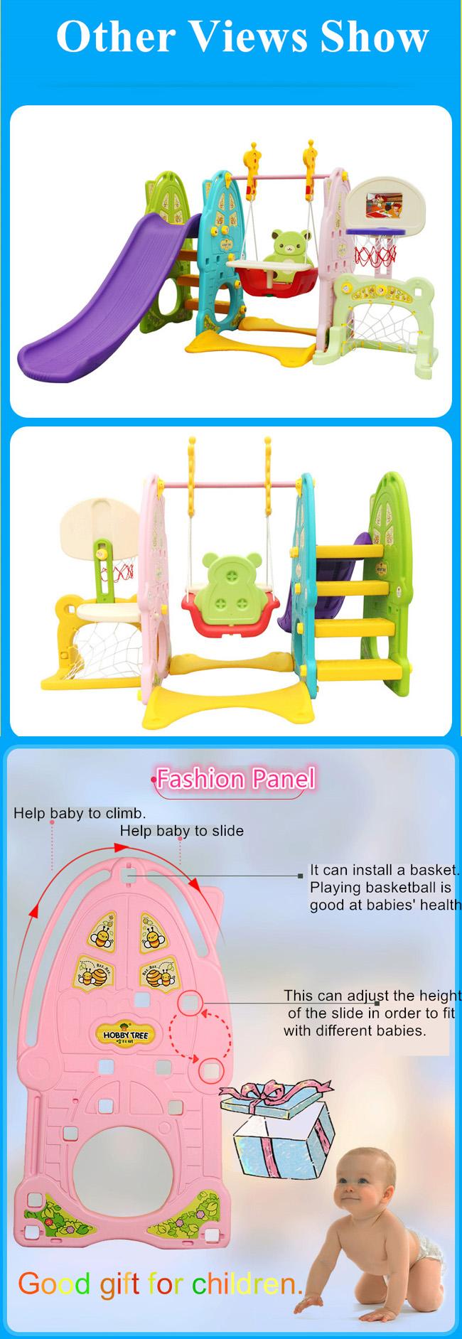 1-6 Years Indoor Children Plastic Slide with Ball Pit