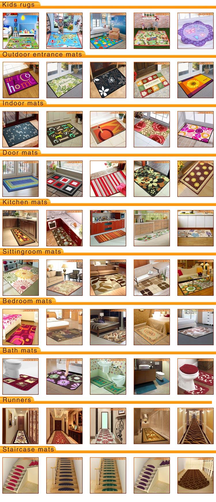 Cheap PP Yarn Stripe Design Door Mat Carpet