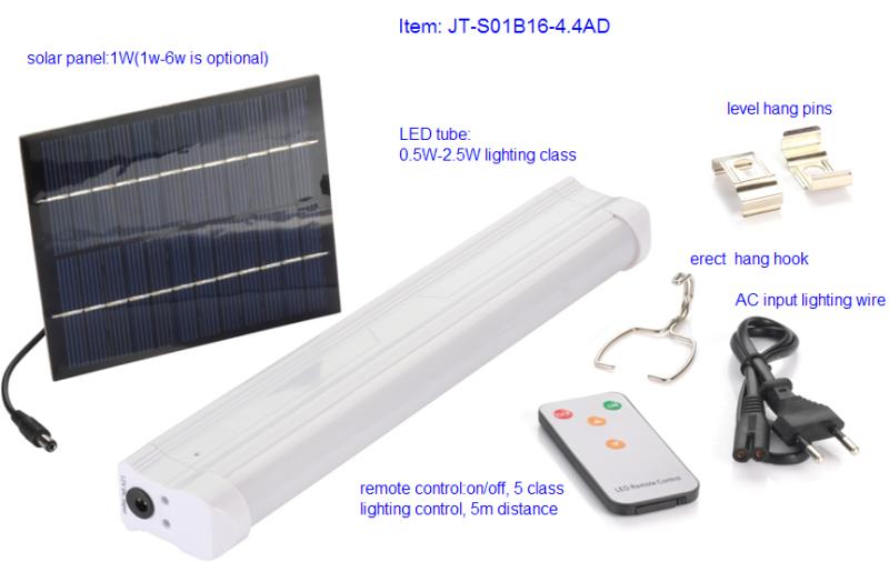 Solar Energy LED Tube Light System