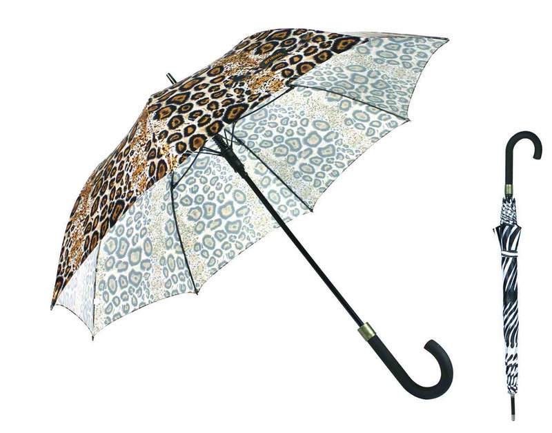 High Quality Animal Skin Print Windproof Umbrella (YS23083915R)