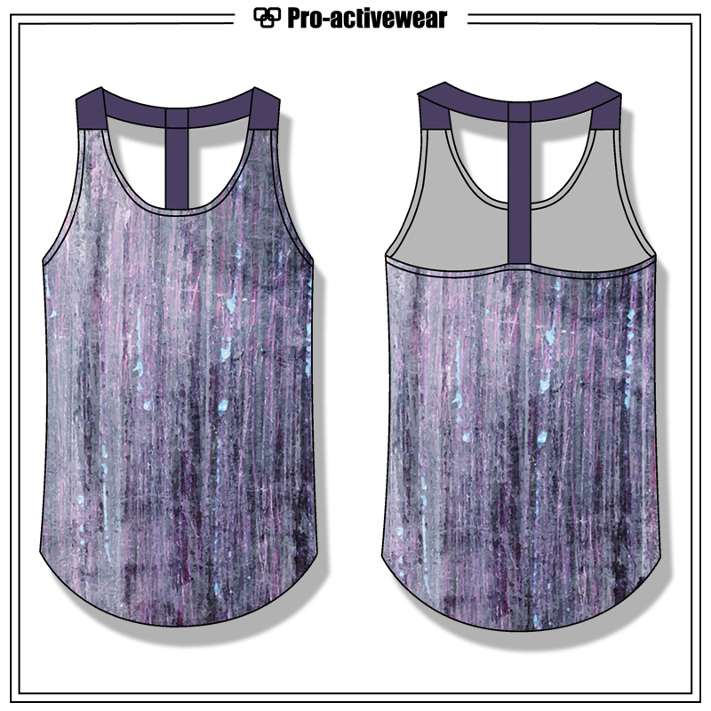 OEM Women Stringer Gym Tank Top with Sublimation Printing
