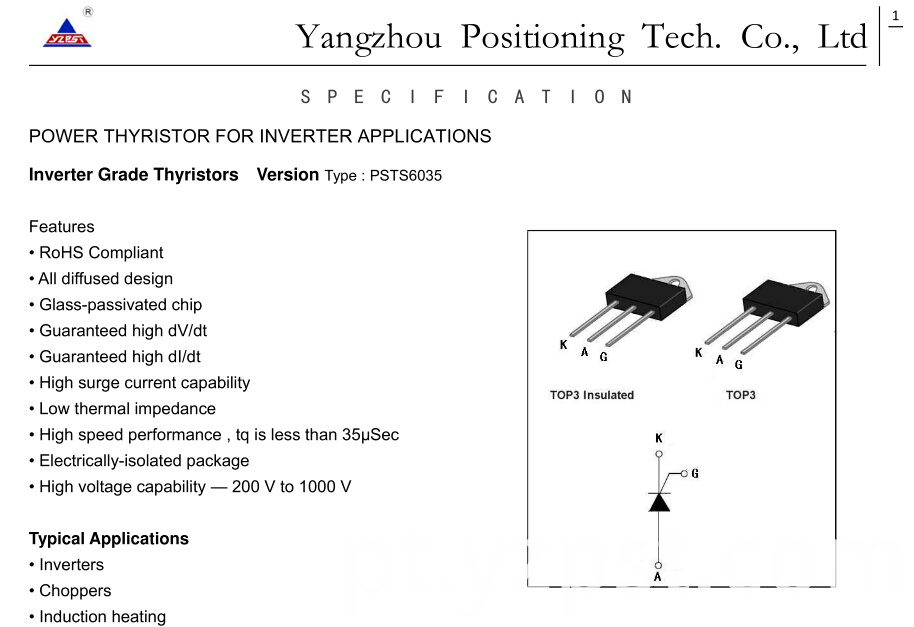 Power Thyristor for Inverter